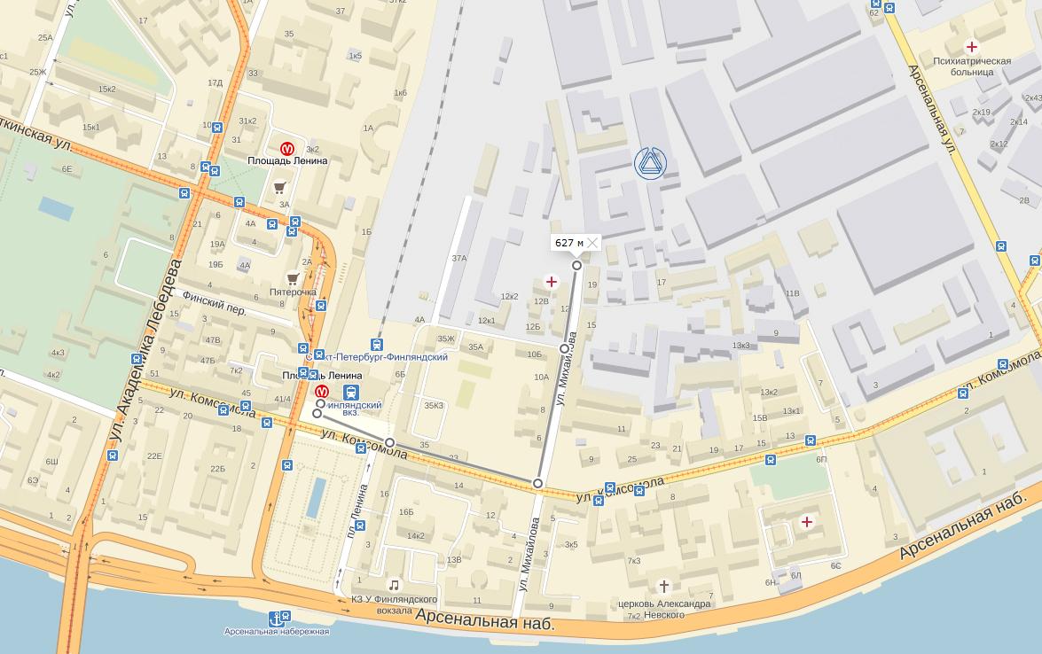 схема маршрута 334